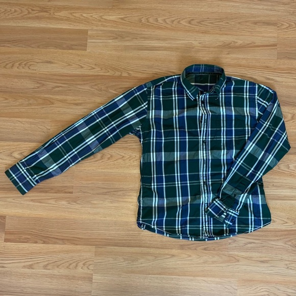 Pedaggio Convenzione Veloce  United Colors Of Benetton Shirts | Stile Benetton Green And Blur Button Up  | Poshmark